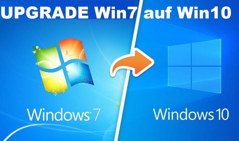 windows 7 auf windows 10 update