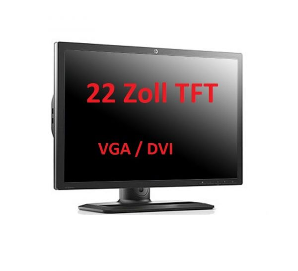 "22"" HP 54,7cm Refurbished D-Sub + DVI"